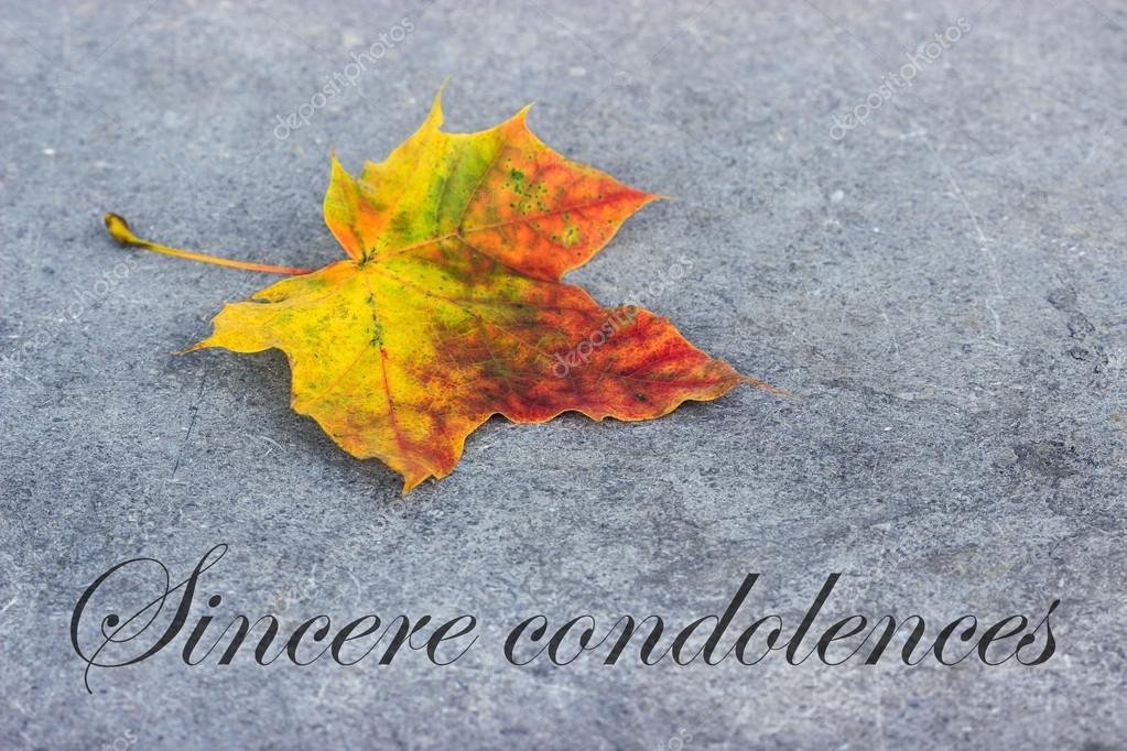 kondoleanser på engelska