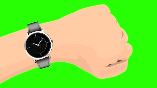 Náramkové hodinky s přesunem z druhé ruky. Chroma klíč