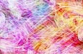 Fotografie art, abstrait de traînées de lumière colorés en jaune, rose