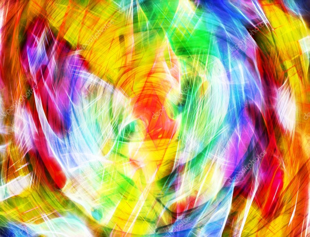 bright Colorful light streaks abstract background in blue, red,