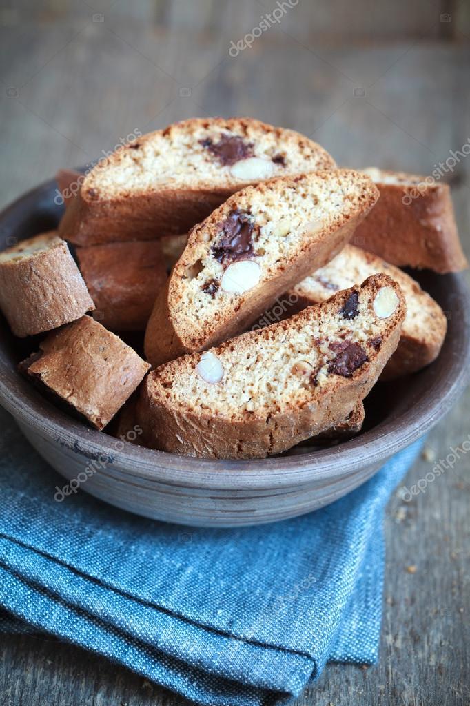 biscotti choklad mandel