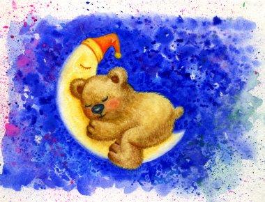 baby bear on moon