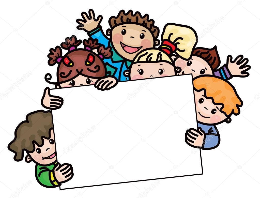 Dibujos Caras De Niños Felices Animadas: Marco De Dibujos Animados De