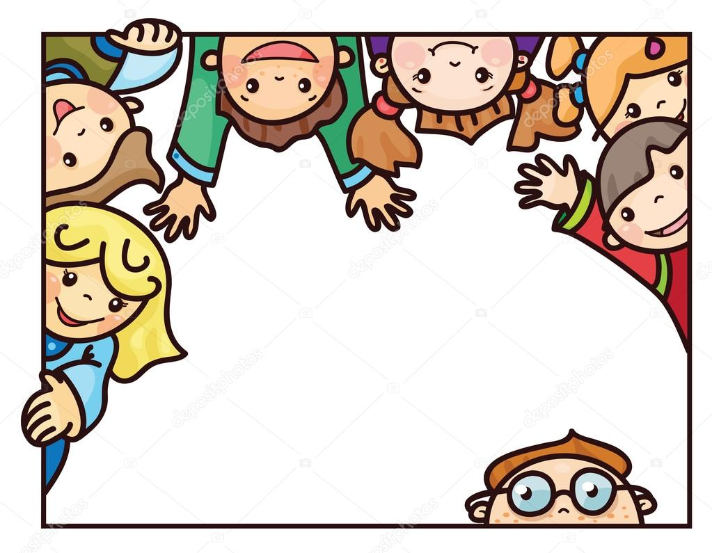 Marco De Dibujos Animados De Ni 241 Os Felices Archivo