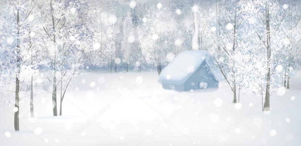Winter snow landscape