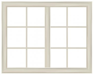 Vector window frame isolated. stock vector
