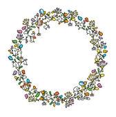 Fényképek Virág kör kerettel, madarak