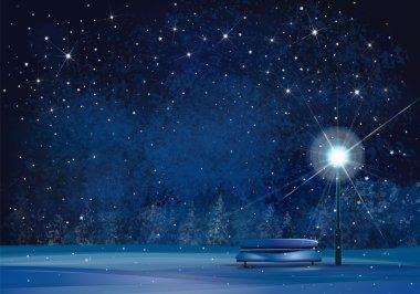 winter night background.