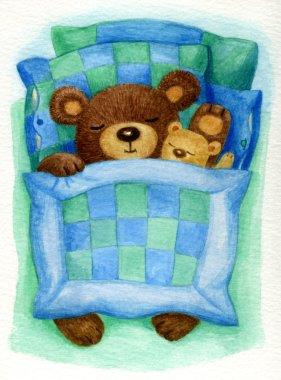 babies bears in bed