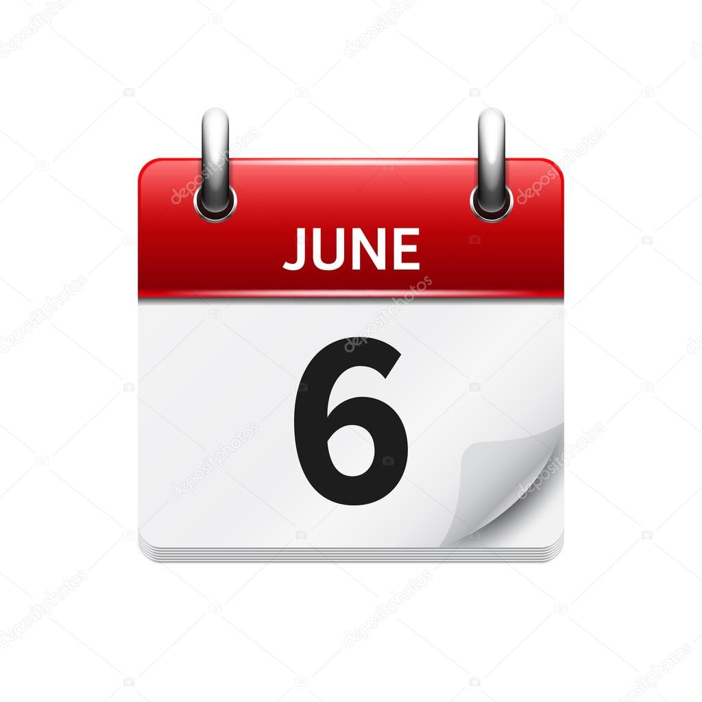 June Calendar Vector : June vector flat daily calendar icon date and time