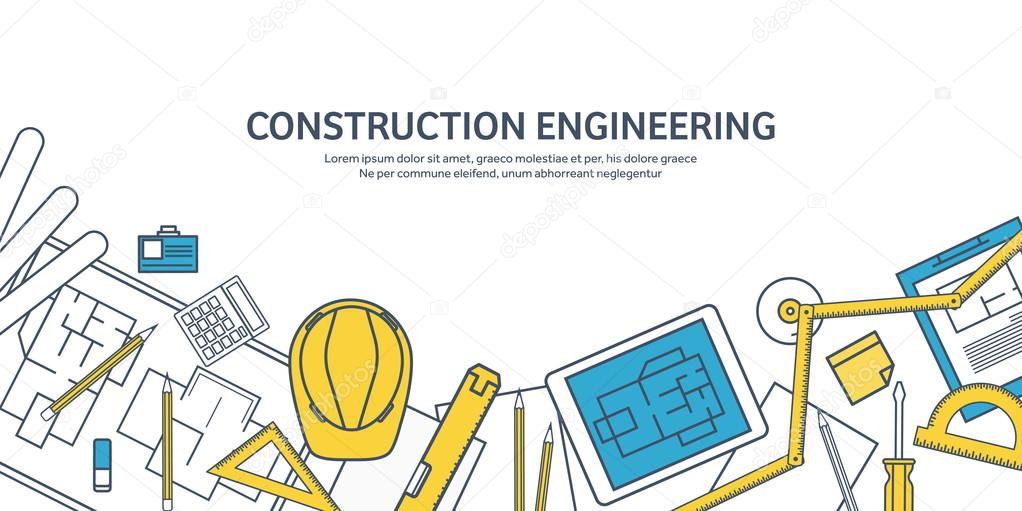 Lined outline vector illustration engineering and architecture lined outline vector illustration engineering and architecture tablet software drawing ccuart Image collections