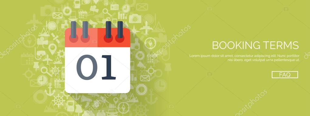 vector illustration flat background with calendar time date 31 december new year vector by floral_set