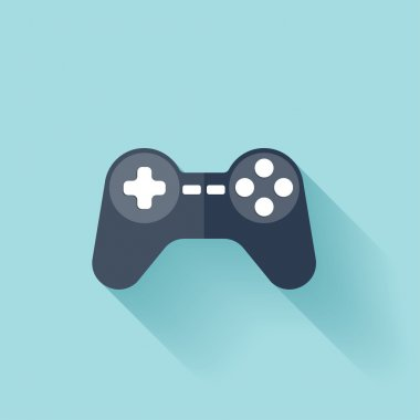 Flat joystick icon stock vector