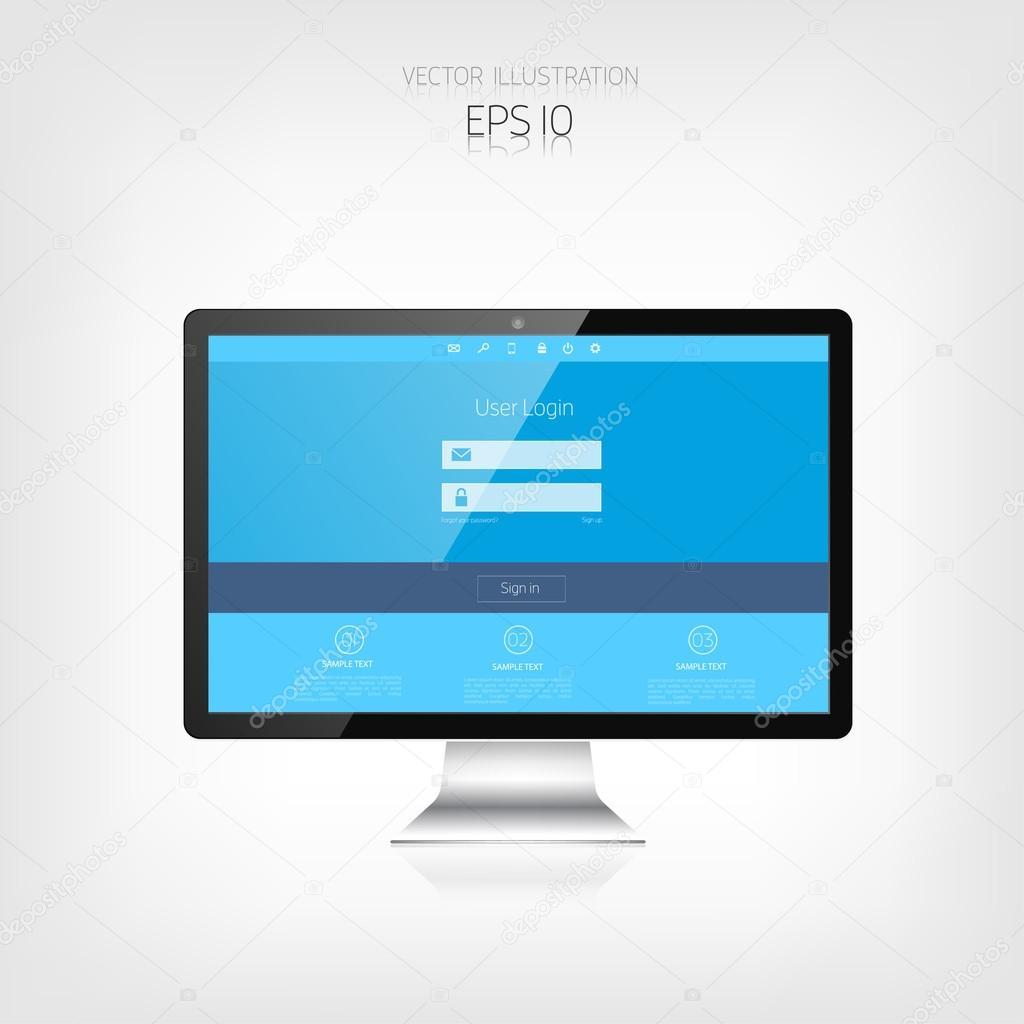 Diseño web responsivo. Interfaz de usuario adaptable. Dispositivos ...