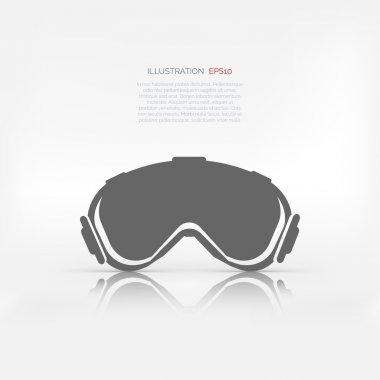 Ski goggles. Vector illustration