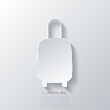 Traveling bag icon.