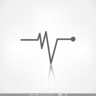 Heart beat, cardiogramm. Pulse icon stock vector