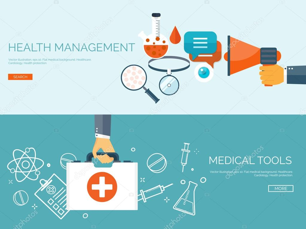vector illustration flat header medical background first aid and rh depositphotos com Medical Icon Medical Symbol Vector