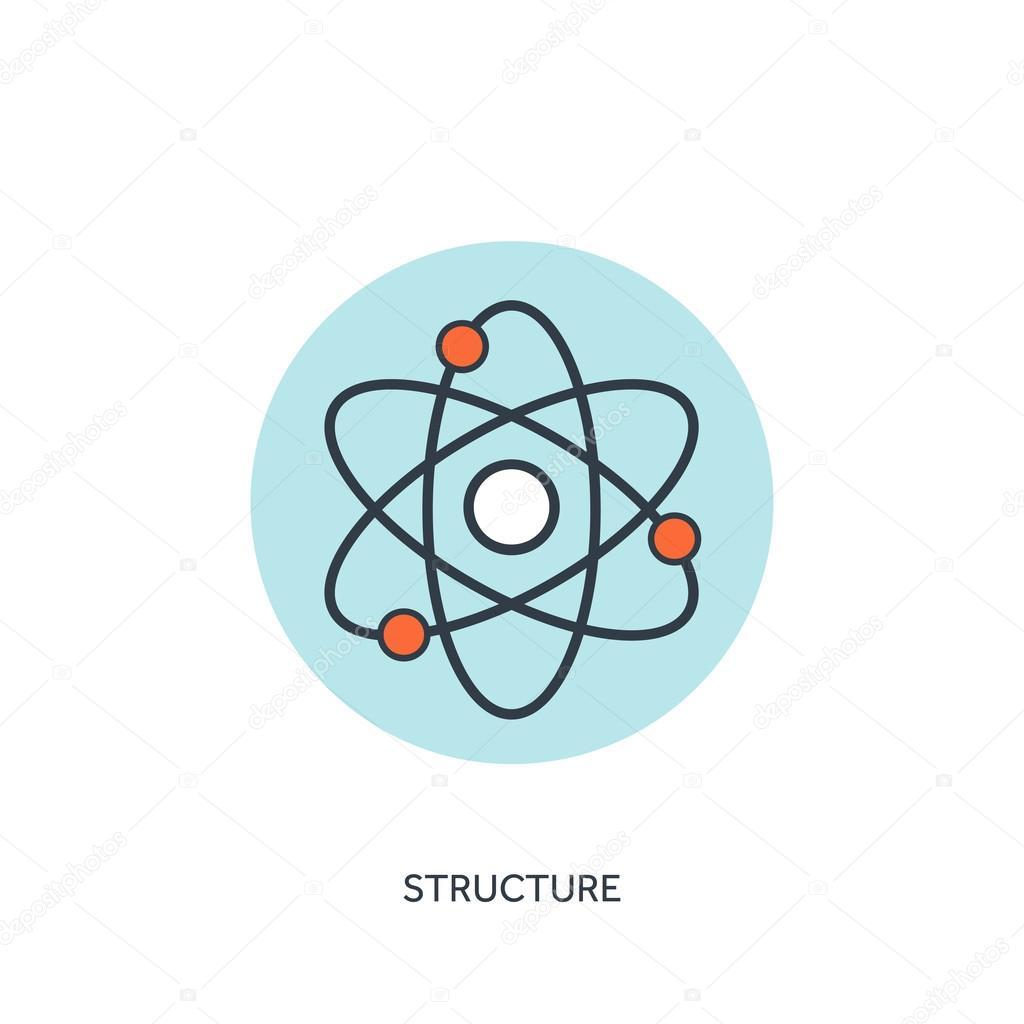 Vector illustration atom molecule icon vetores de stock atom molecule icon vetor de floralset ccuart Images