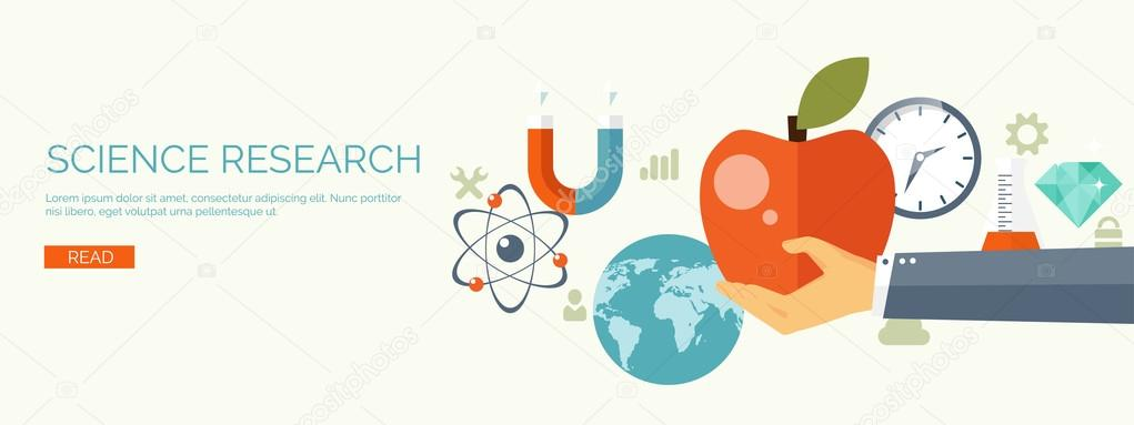 Vector Illustration Flat Research Background Physics And Laboratory Equipment Experiments Atomic