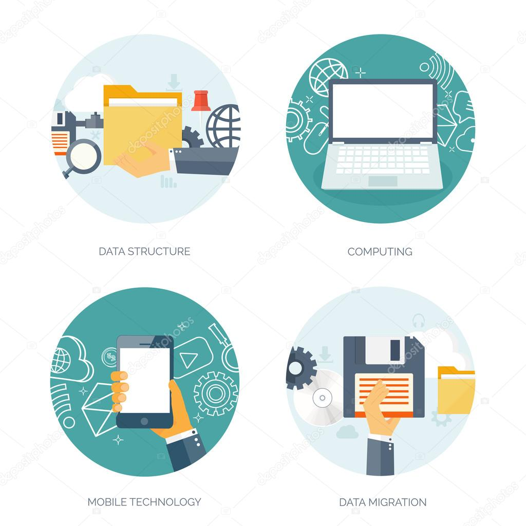 Vector illustration flat background coding programming seo vector illustration flat background coding programming seo search engine optimization app development and creation software program code ccuart Image collections