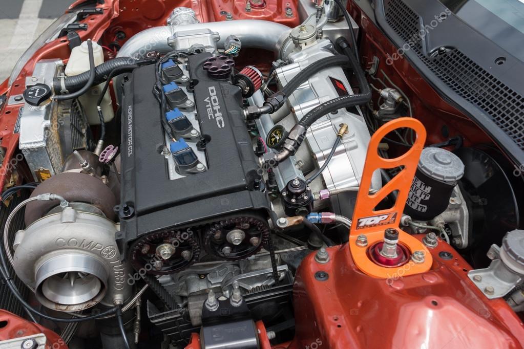 Modified Honda Dohc Vtec Engine Stock Editorial Photo