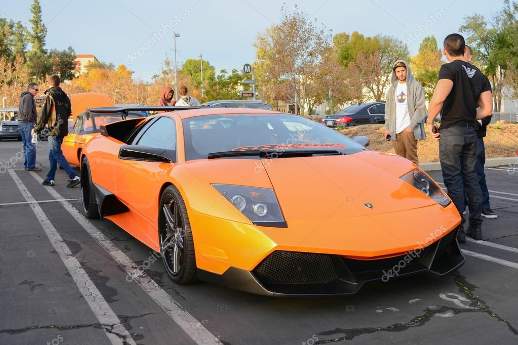 Woodland Hills, CA   December 7, 2014: Lamborghini Murcielago On Display At  The 11th Annual Motor4toys Charity Car Show And Toy Drive U2014 Fotografia Por  ...