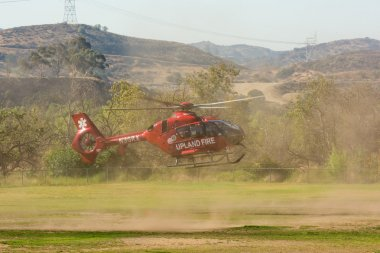 Upland Fire Department helicopter