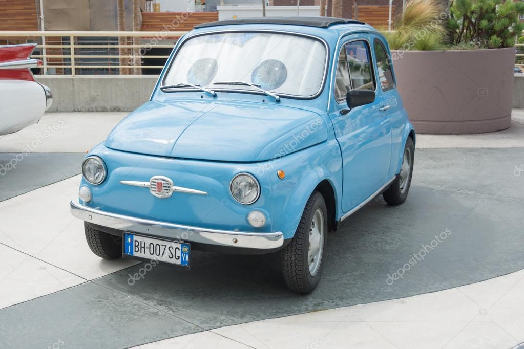 Fiat 500 Old Version On Display Stock Editorial Photo