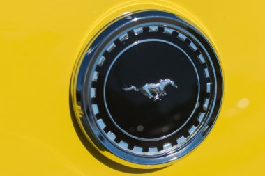 Ford Mustang Emblem on display