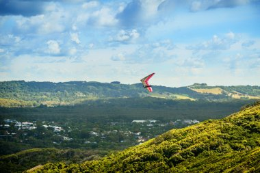 Hang Glider over the Valley