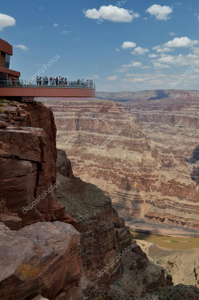 Skywalk View Grand Canyon Arizona Stock Photo