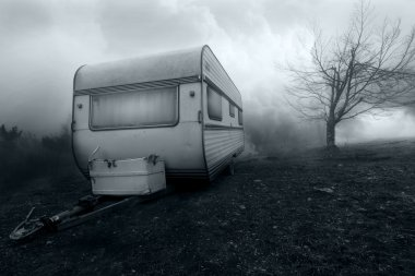 Horror scene of Haunted Camper Van