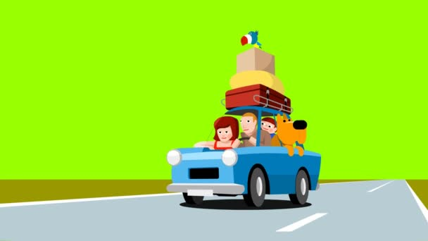 The family goes on vacation by car