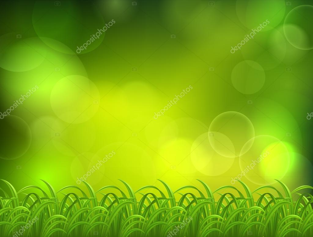 Nnatural green background with selective focus