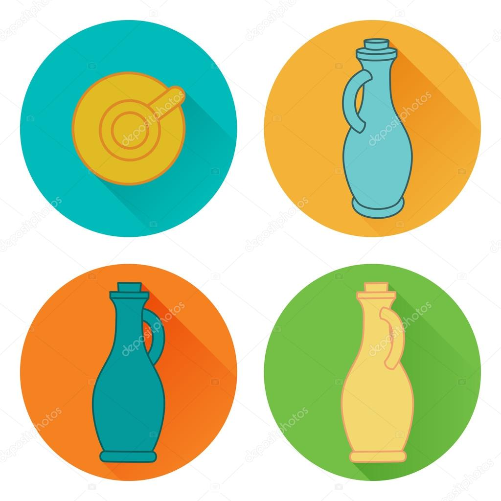 Olive Oil flat icons