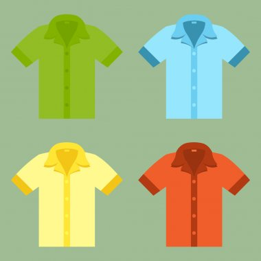 Shirts for your design in flat style.