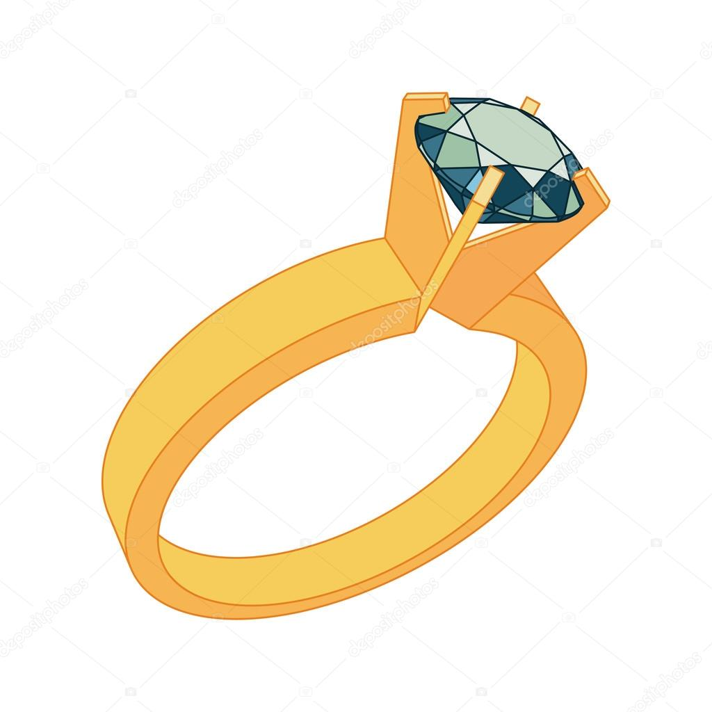 wedding ring vector icon. flat design — stock vector © asakosakura