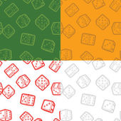 Dices seamless backgrounds set