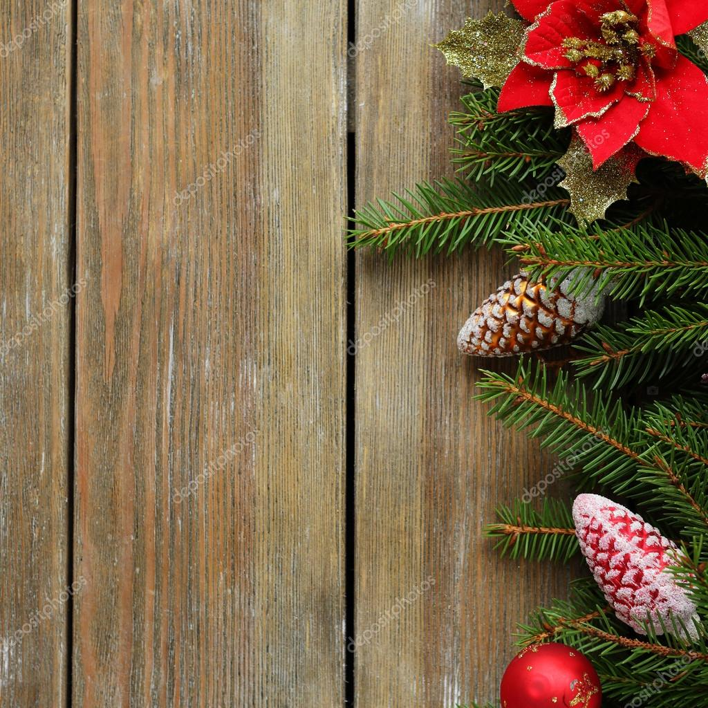 rustikale Weihnachten Hintergrund — Stockfoto © olhaafanasieva ...