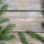 나무판에 파인 지점 크리스마스 프레임 — 스톡 사진 ...