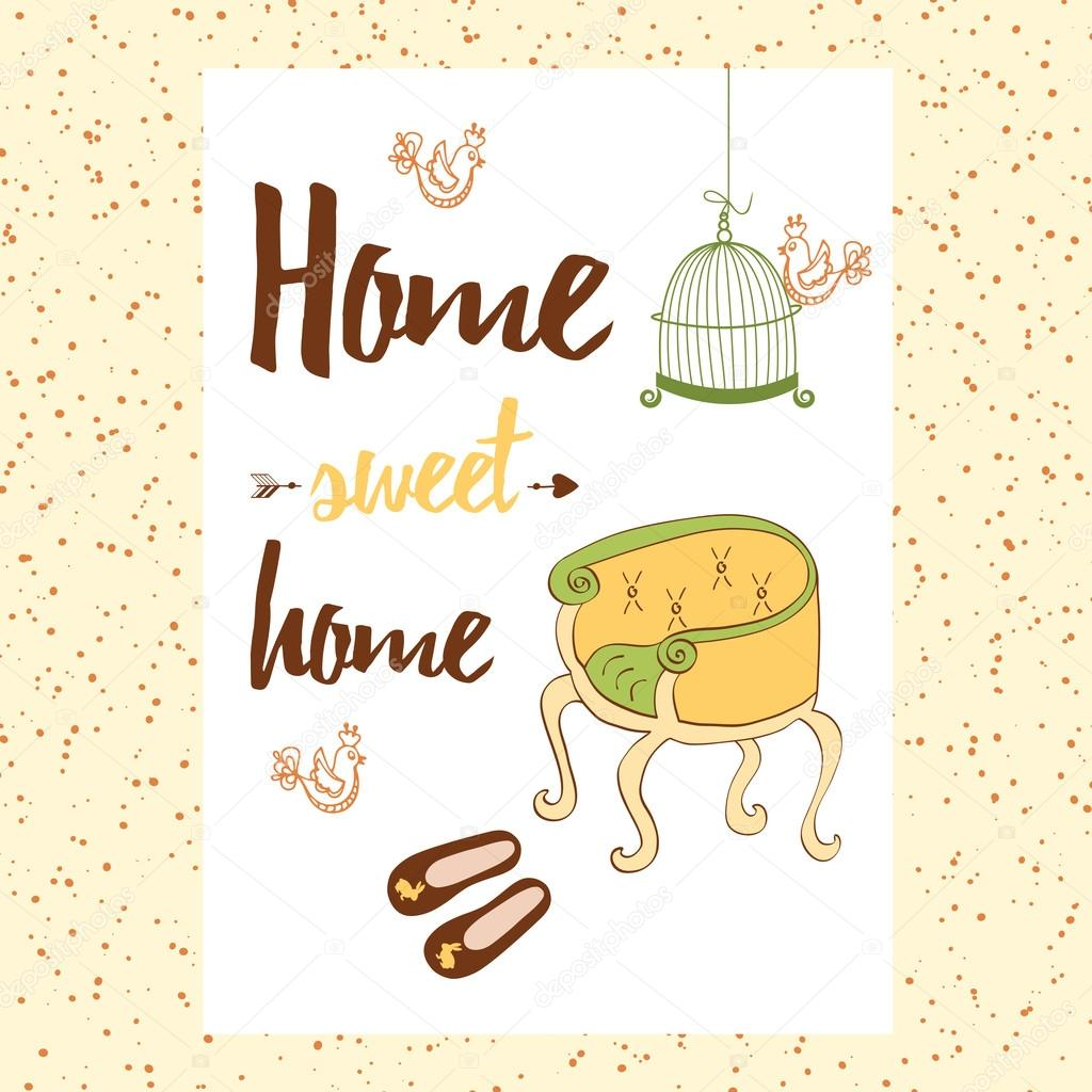 With Phrase Handwritten Conceptual Home ChairHouse Sweet BxCoedr