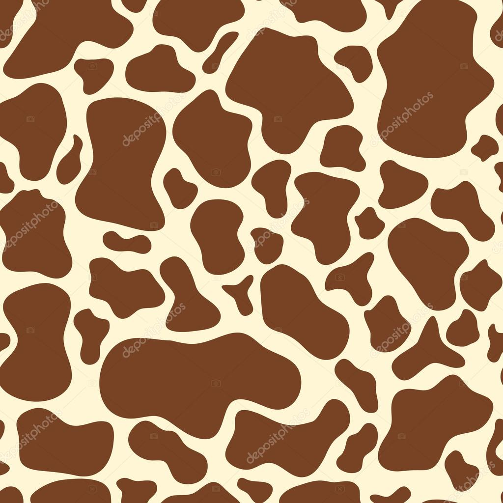 Seamless brown cow spots pattern on the beige background stock seamless brown cow spots pattern on the beige background abstract animal skin template wallpaper or package design vector by tkuzminka pronofoot35fo Gallery