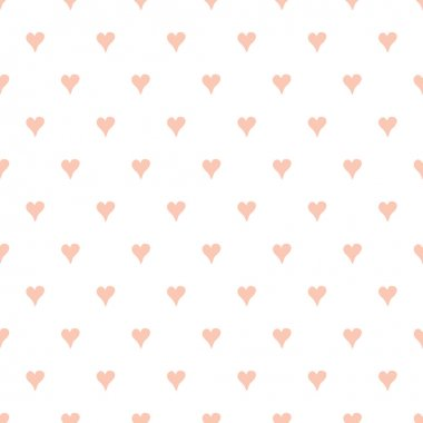 Seamless vector pattern with pastel hand drawn hearts for baby design. Sleepy design. Textile background for girl or boy. Vector wallpaper for kids room. Sweet dreams stock vector