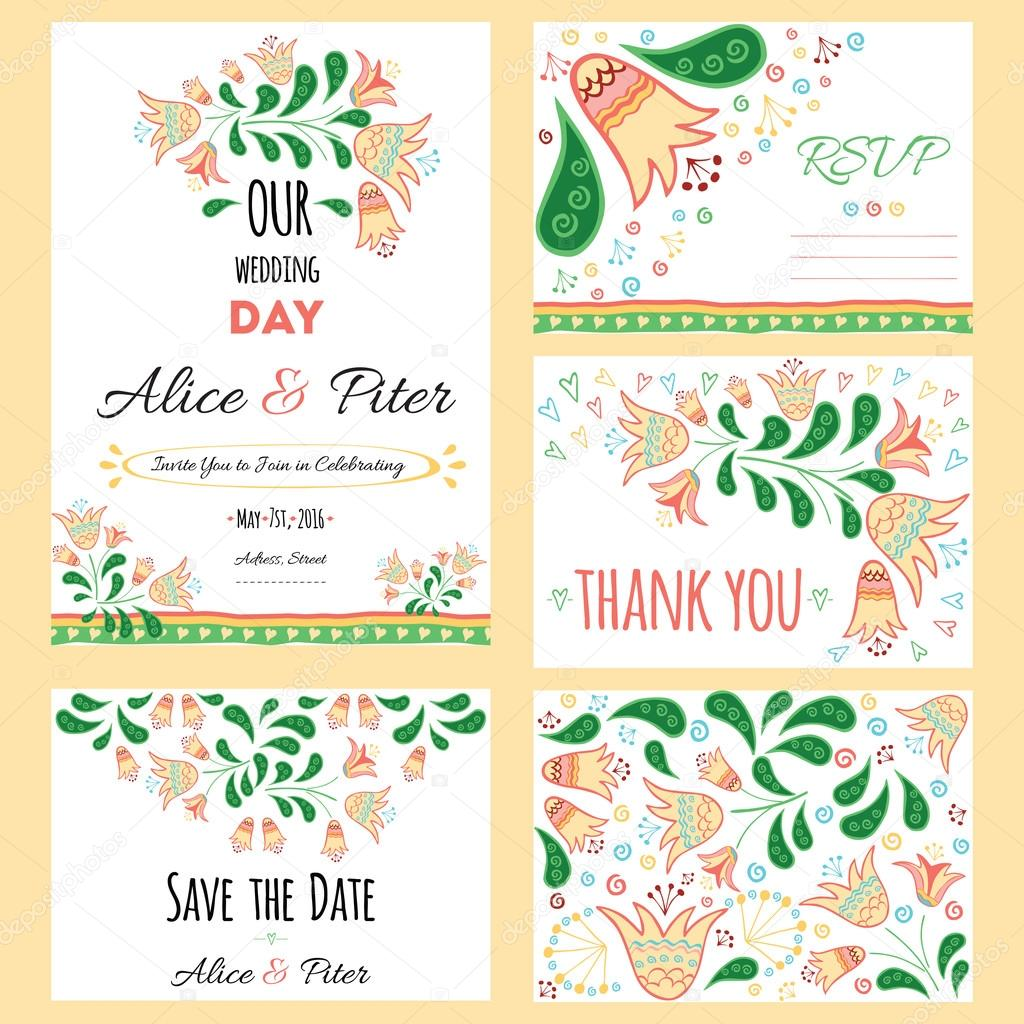 thank you cards wedding template