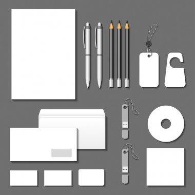Vector corporate identity templates. Cards, envelope, business c