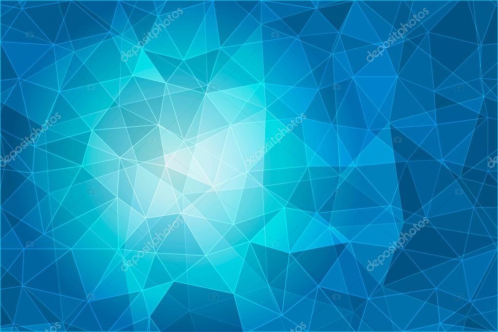 Fondo Geométrico: Fondo Azul Geométrica Abstracta Con Polígonos