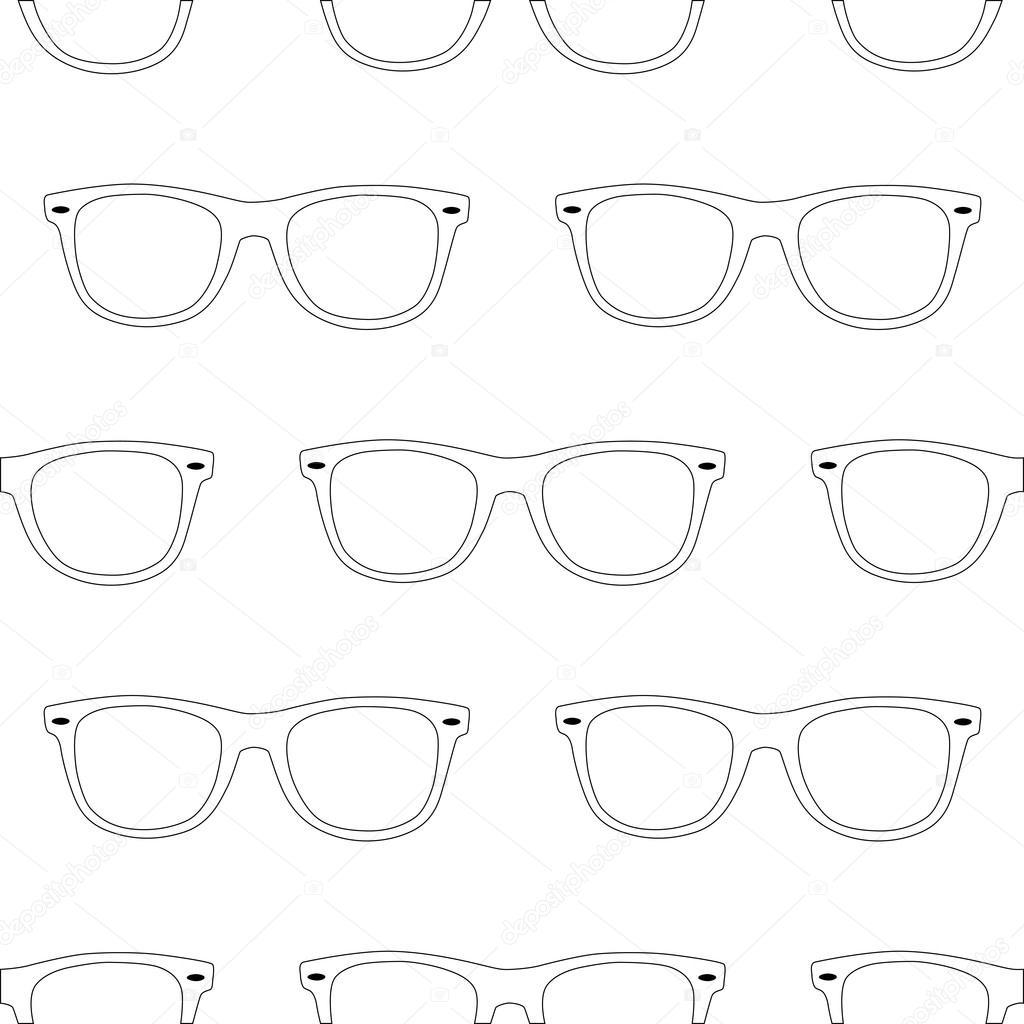 Esquema de patrones sin fisuras las gafas de sol sobre fondo blanco ...