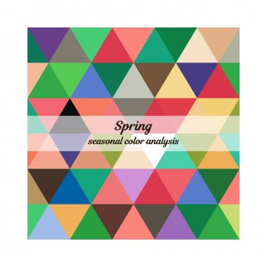 Stock vector seasonal color analysis palette for spring type. Type of female appearance