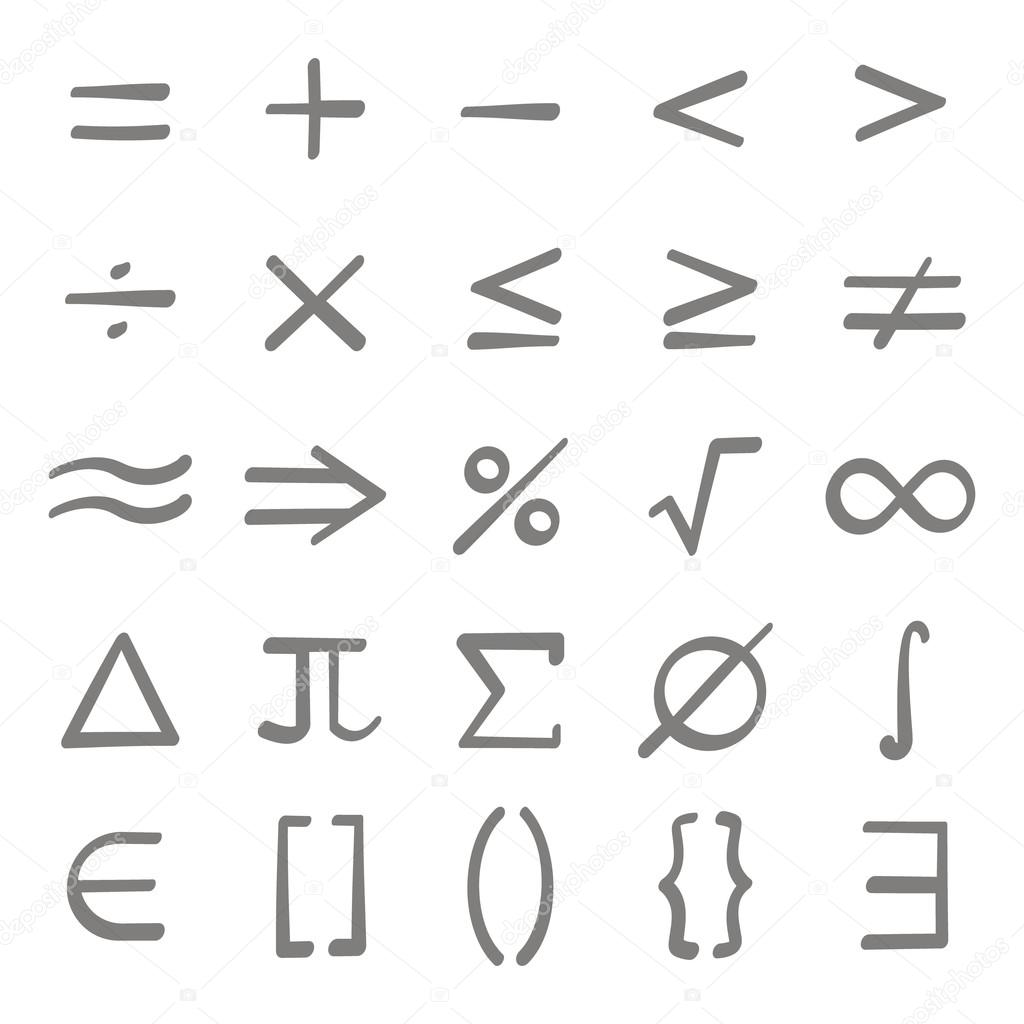 Set of monochrome icons with mathematical symbols stock vector set of monochrome icons with mathematical symbols stock vector biocorpaavc Gallery